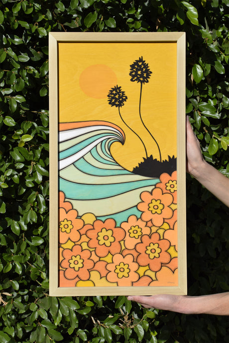 Wave and Flowers • Original Art