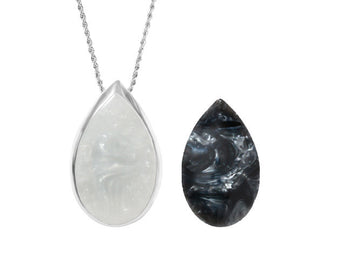 ORA Silver Teardrop pendant is a beautiful medical alert alarm