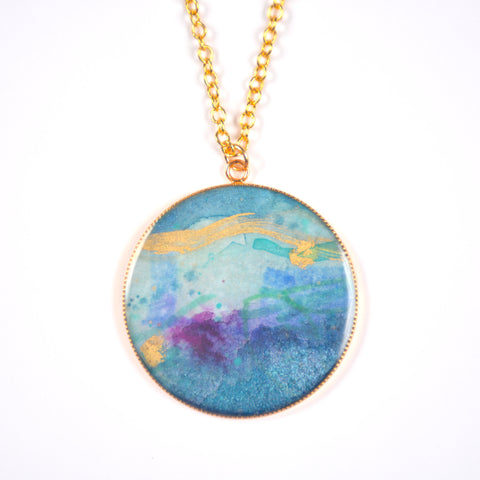 Currents Large Painting Pendant