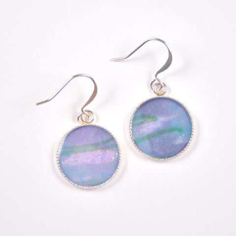 Currents Painting Pendant Earrings
