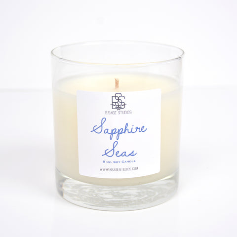 Sapphire Seas Soy Candle, 8oz.