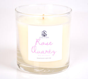 Rose Quartz Soy Candle, 8oz