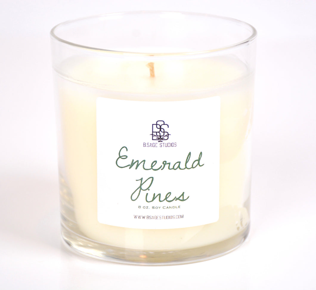 Emerald Pines Soy Candle, 8oz