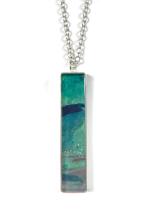 Long Statement Painting Pendant