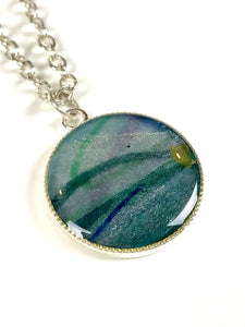 Currents Small Painting Pendant