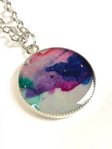 Small Round Painting Pendant