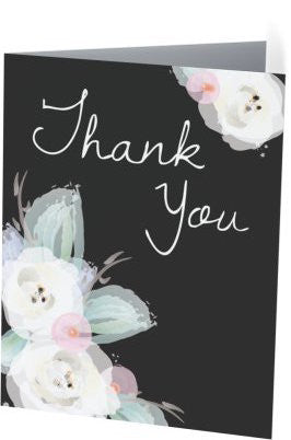 Dark Garden Thank You Notecard