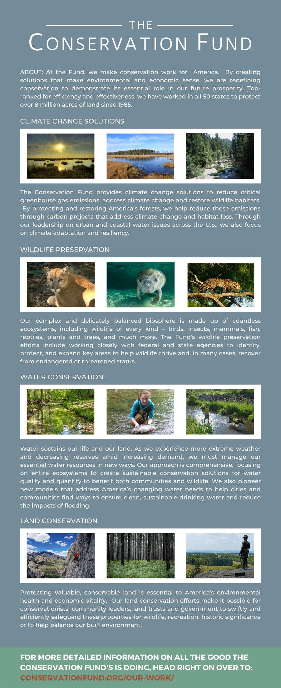 OKEE SUPPLY THE CONSERVATION FUND INFOGRAPHIC
