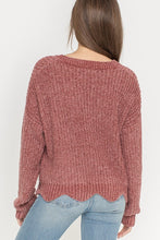 Rose Cropped Sweater