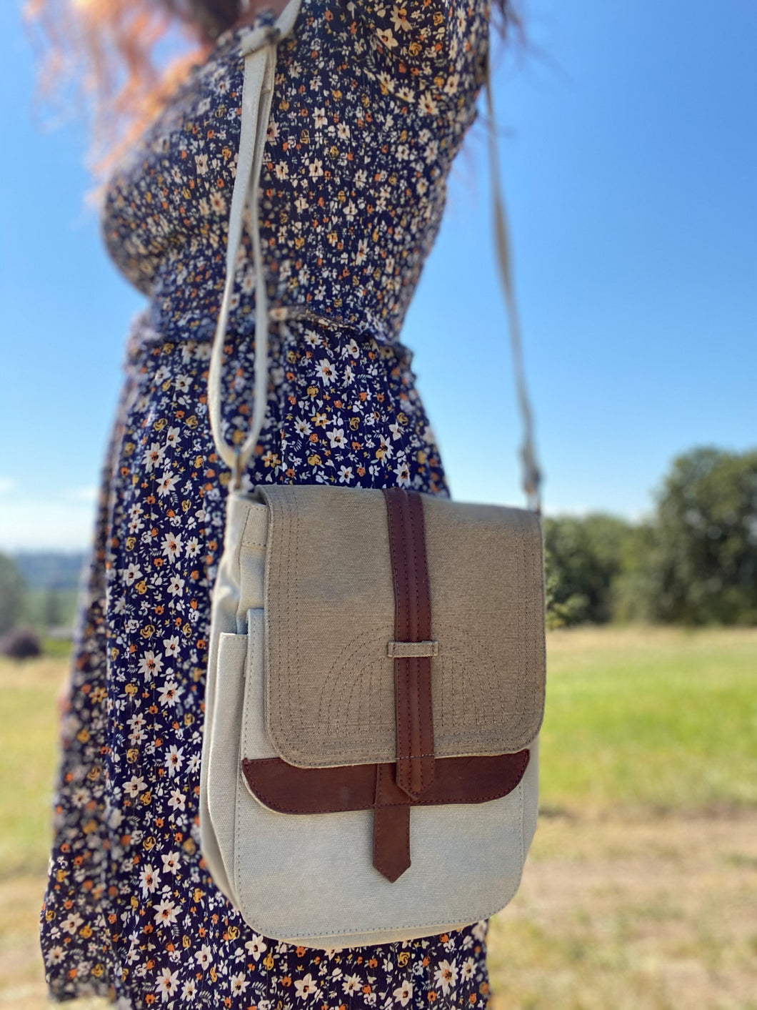 Natural Canvas Crossbody