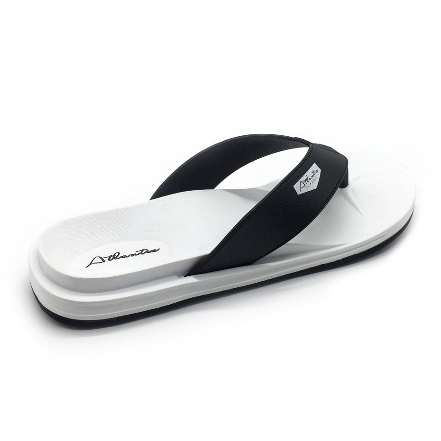 Waterfall Black-White Flip Flops - Atlantis Shoes