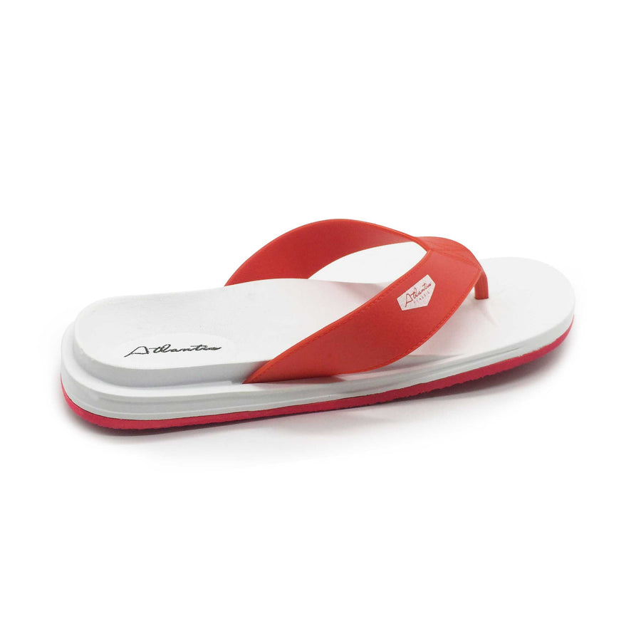 Waterfall Red-White Flip Flops - Atlantis Shoes