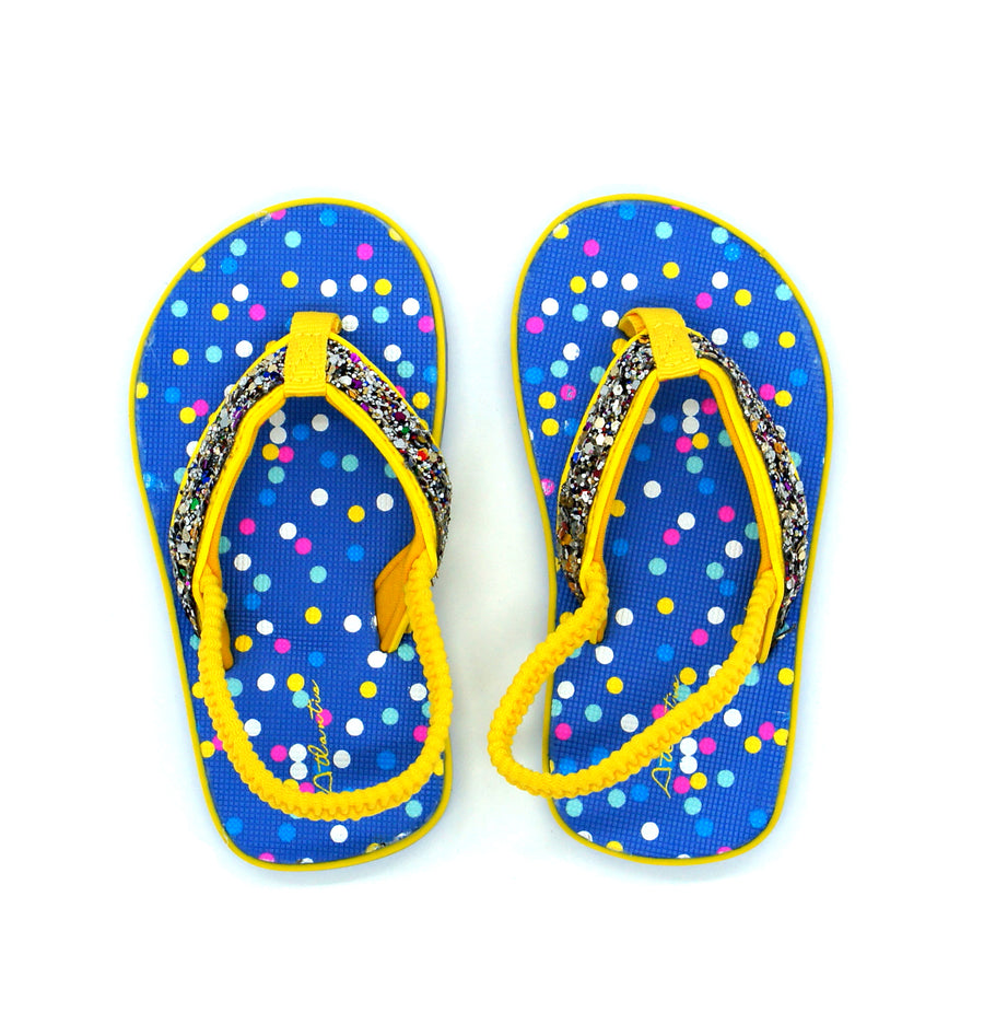 Twinkle Yellow Flip Flops - Atlantis Shoes