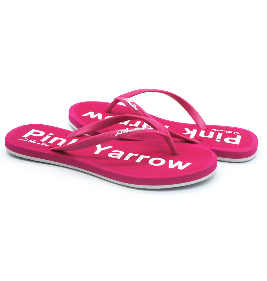Simply Colorful Pink Yarrow Flip Flops - Atlantis Shoes
