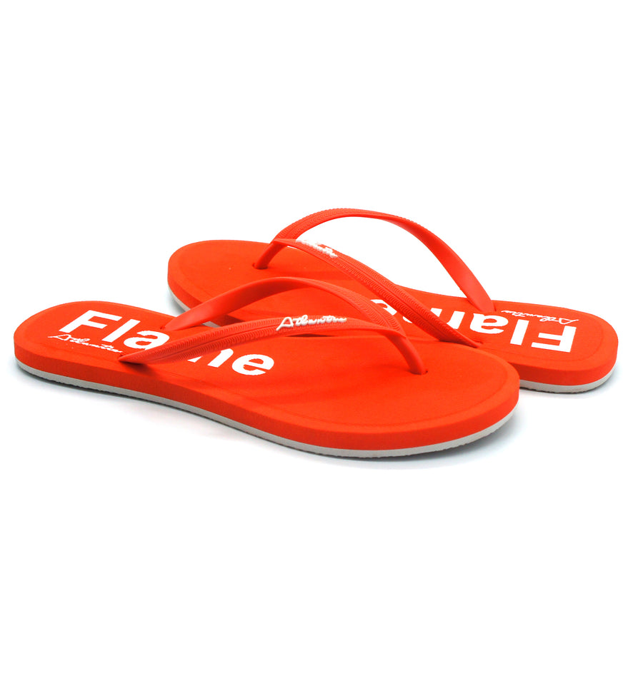 Simply Colorful Flame Flip Flops - Atlantis Shoes