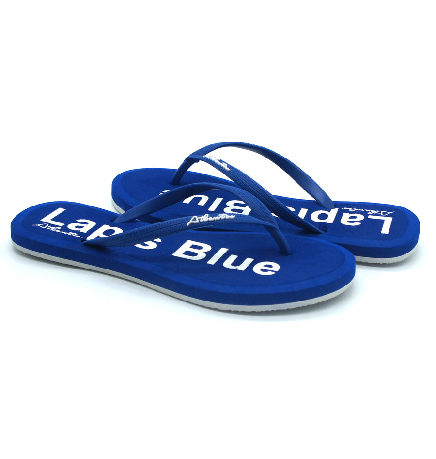 Simply Colorful Lapis Blue Flip Flops - Atlantis Shoes