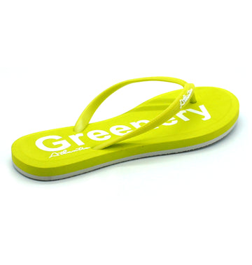 Simply Colorful Greenery Flip Flops - Atlantis Shoes