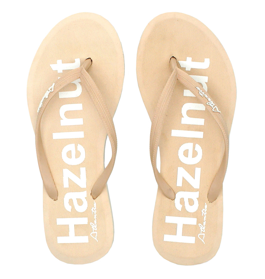 Simply Colorful Hazelnut Flip Flops - Atlantis Shoes