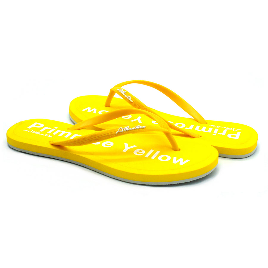 Simply Colorful Primrose Yellow Flip Flops - Atlantis Shoes