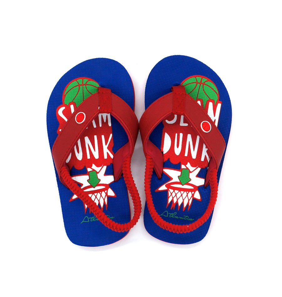 Slam Dunk Red Flip Flops - Atlantis Shoes