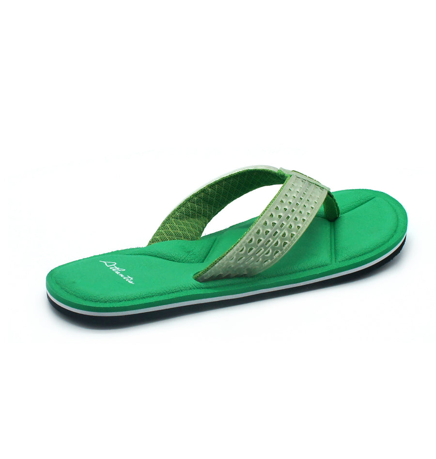 Simply Colorful Green Flip Flops - Atlantis Shoes