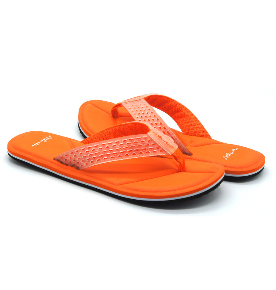 Simply Colorful Orange Flip Flops - Atlantis Shoes