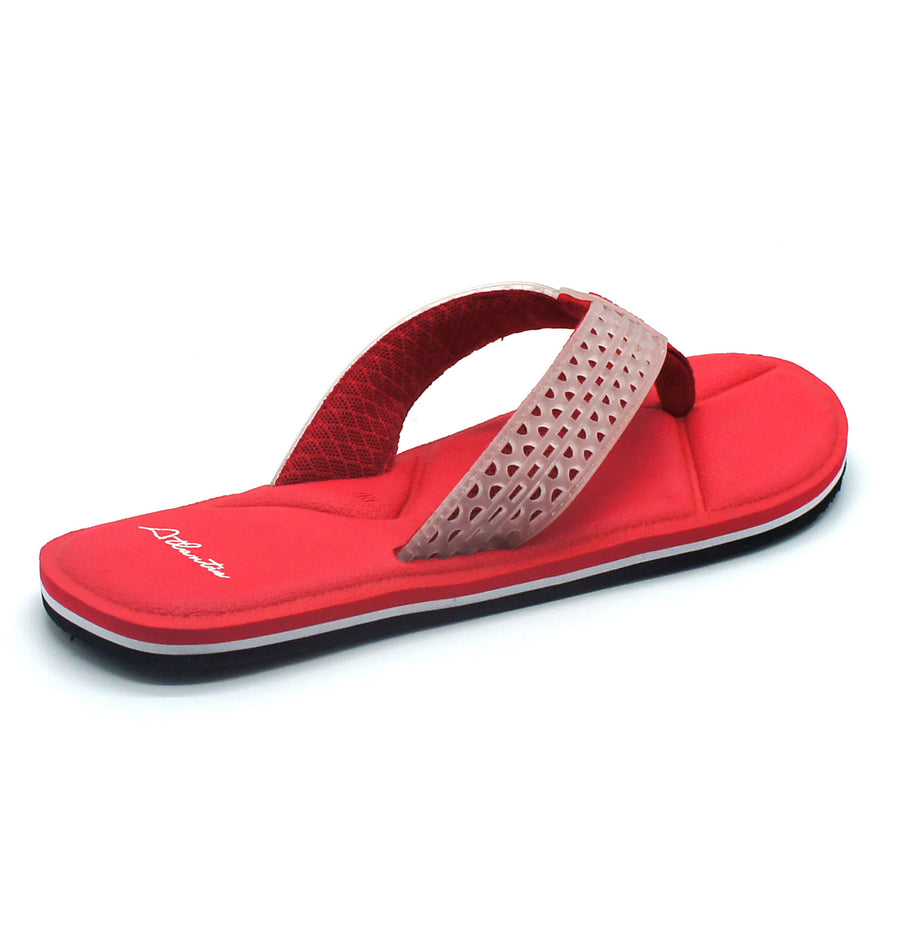 Simply Colorful Red Flip Flops - Atlantis Shoes