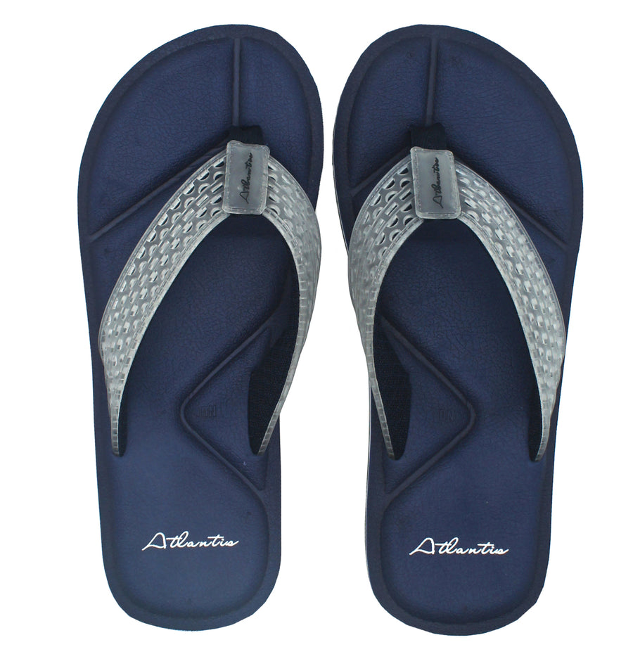 Simply Colorful Navy Flip Flops - Atlantis Shoes