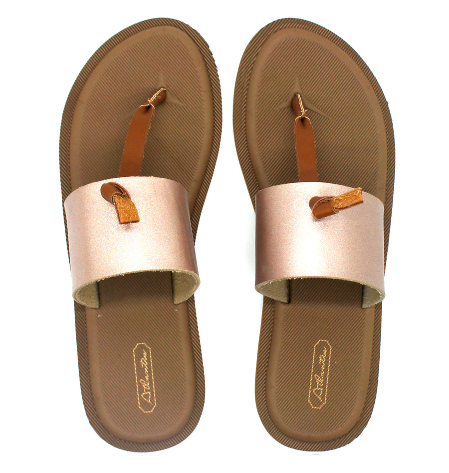 Super Comfort Gold Flip Flops - Atlantis Shoes