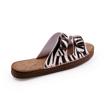 Sunday Morning Zebra Sandals - Atlantis Shoes