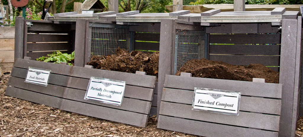 how to start composting with multi-stage piles