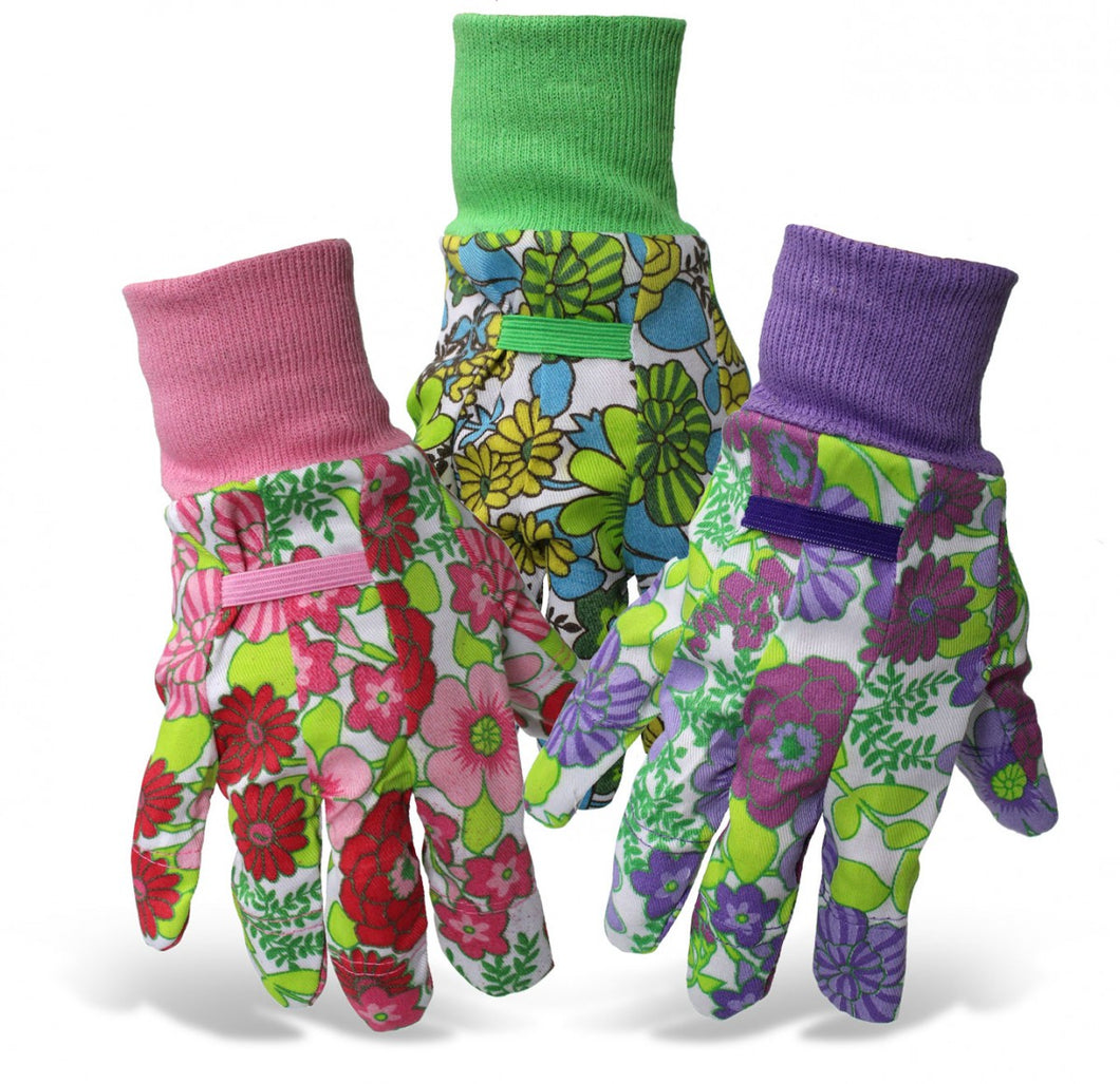 Ladies Floral Gardening Gloves