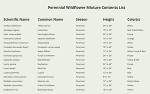 perennial wildflower mixture