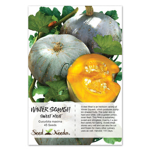 Sweet Meat Winter Squash Seeds (Cucurbita maxima)