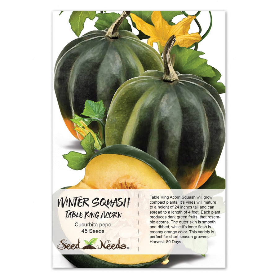 Table King Acorn Winter Squash Seeds (Cucurbita pepo)