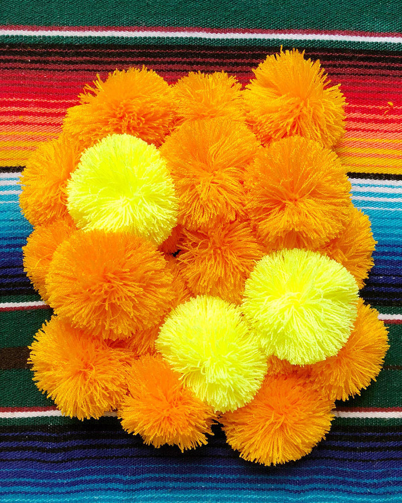 DIY Collaboration with Marisa Morrison of The Neon Tea Party for Artelexia — Mexican Marigold Pom Pom Garland