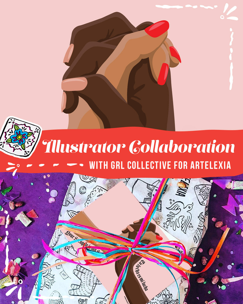 Artelexia Monthly Illustrator Collaboration with GRL Collective