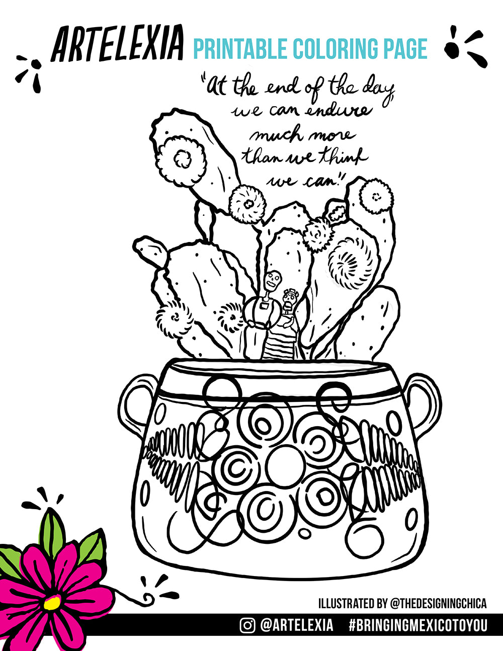 Artelexia's Free Printable Coloring Page by The Designing Chica