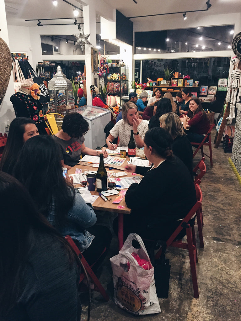 Word of the Year Workshop & Wine Wednesday at Artelexia as taught by Lizelly Meza