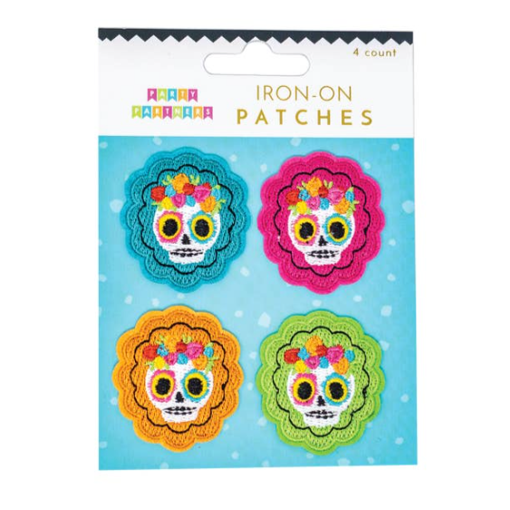 Sugar Skull Iron On Patches