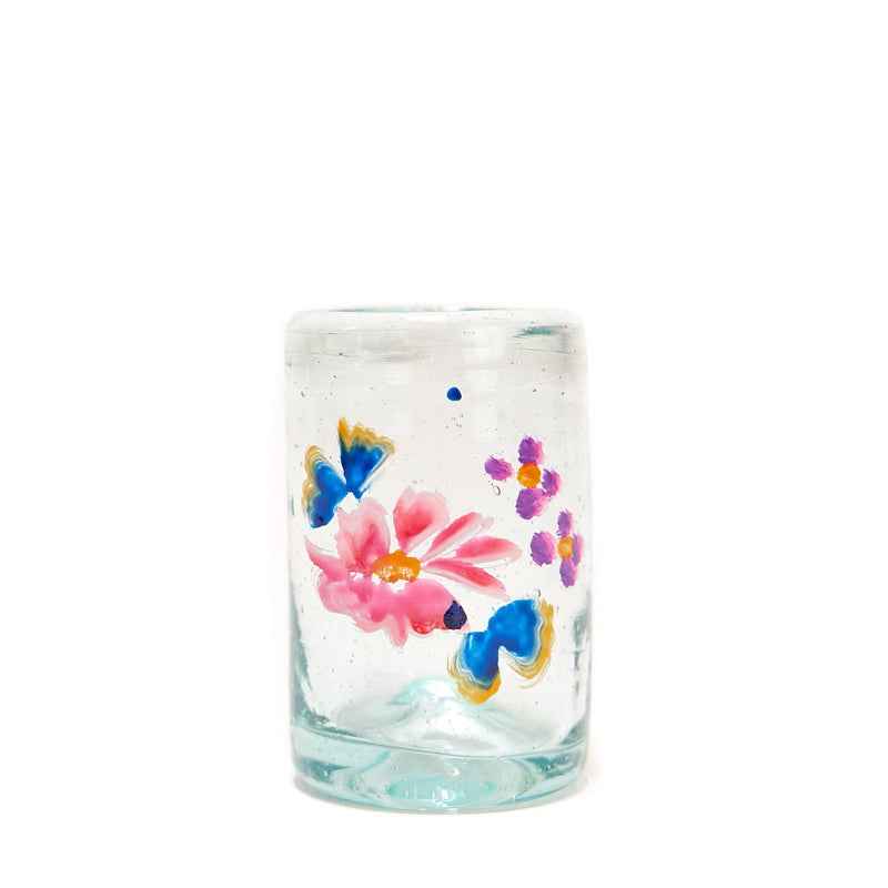 Painted Flower Glassware - Shot Glass