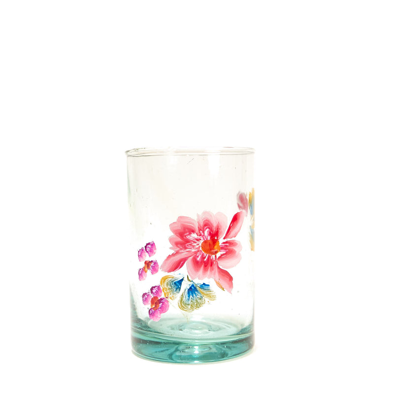 Painted Flower Glassware - Juice
