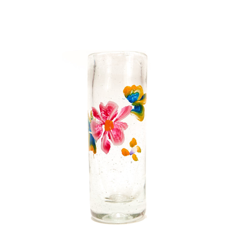 Painted Flower Glassware - Tequila Shot Glass