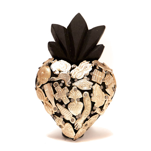 Wood Milagro Heart - Black