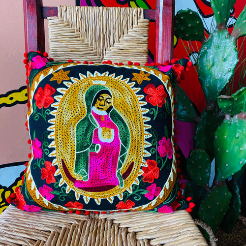 Virgin De Guadalupe Pillow Cover