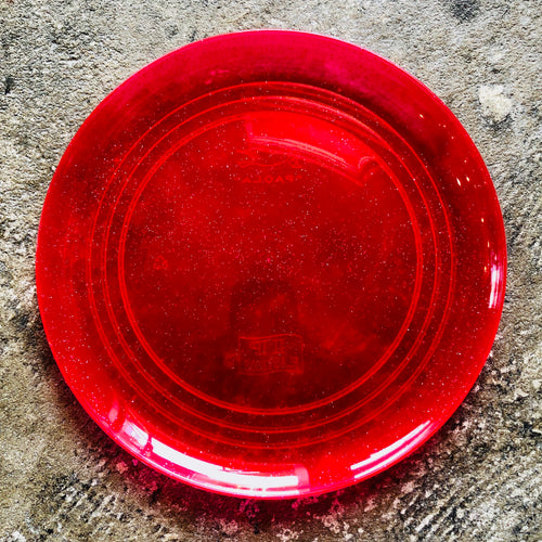 Small Plastic Glitter Plate - Red