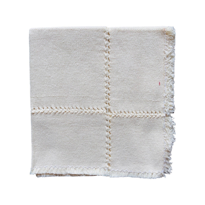 Straw French Basket with Tassel- Brown