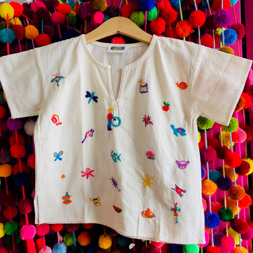 Children's handmade and embroidered shirts made in Mexico