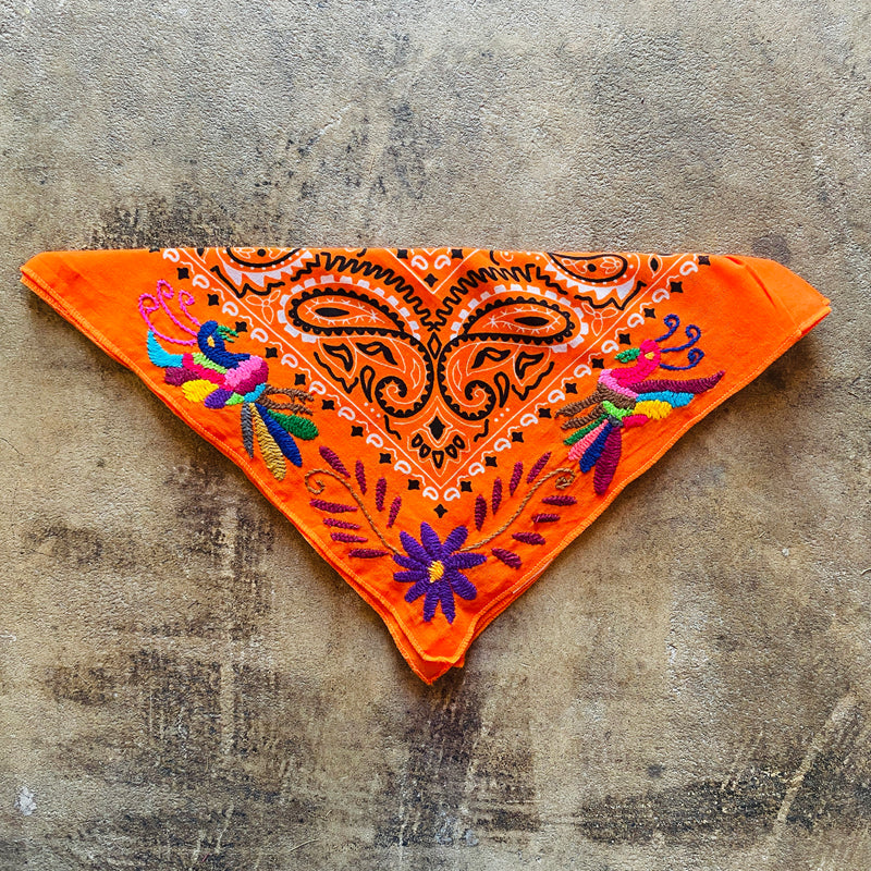 Otomi Embroidered Bandana