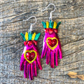 Tin Hand Earrings